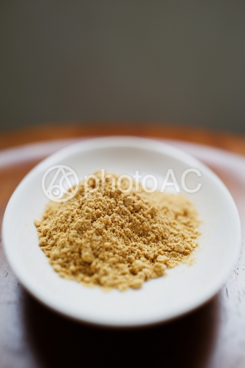 きな粉 黄粉 大豆 食材 食べる オーガニックの写真