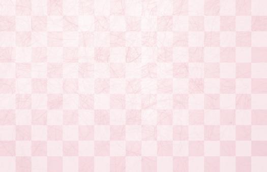 市松模様の桜ピンク和紙テクスチャ背景素材の写真