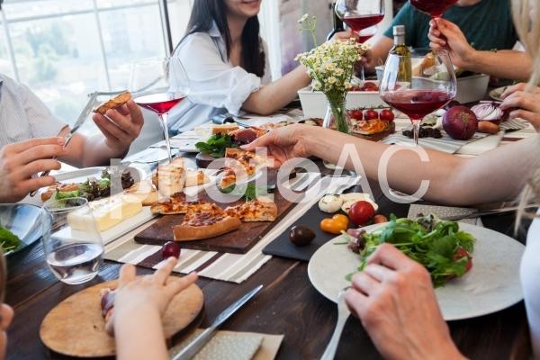 食事風景4の写真