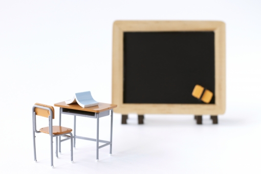 学校の教室イメージの写真