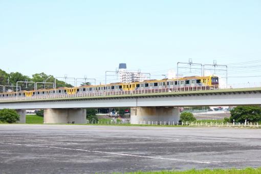 東急 電車 渋谷ヒカエリ号 鉄橋 多摩川 東横線