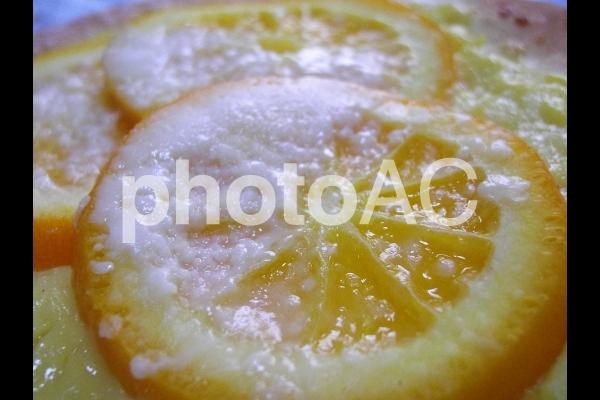 オレンジパンのアップの写真