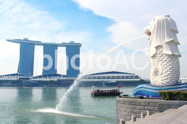シンガポール マーライオンの写真