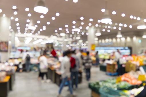 スーパーマーケットの写真