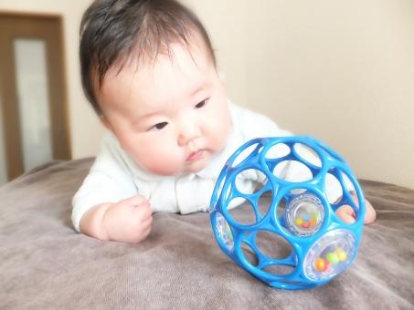 赤ちゃん あかちゃん 赤ん坊 ベビー baby 乳幼児 乳児 こども 子ども 子供 腹這い 腹ばい ほふく前進 匍匐前進 練習 訓練 発育 発達 生後4ヶ月 0歳 0歳児 育児 子育て 子守 筋肉 背筋 おもちゃ 玩具 赤ちゃん用品 ベビー用品 ボール 運動 学習 考える 見つめる 眼差し 思考 学ぶ 学び 覚える はいはい ハイハイ かわいい 小さい 幼い 進む ko