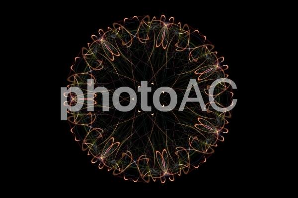 幻想的紋様023 オレンジの写真