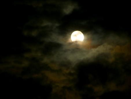 月 天体 お月様 ムーン moon 空 満月 十五夜 望月 皆既月食 月食 赤い月 フルムーン 夜 夜空 月夜 光 月光 クレーター 月面 天体観測 宇宙 衛星 風景 お月見 天体ショー 部分月食 欠け始め 雲間 ムーンライト
