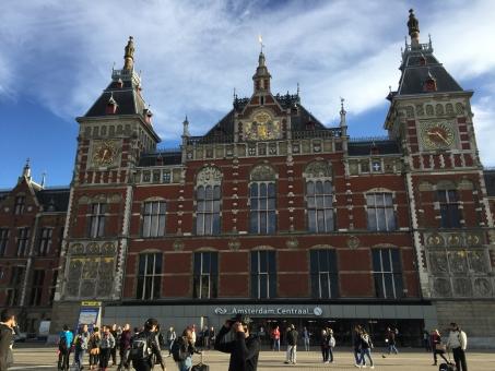 オランダ アムステルダム アムステルダム駅 駅 建物 外国