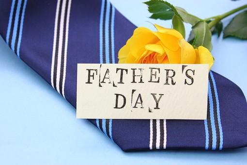 父の日 イベント プレゼント ギフト 行事  花 フラワー 生花 バラ ばら 薔薇 明るい さわやか 爽やか  黄色 青色 水色 6月 六月 感謝 贈る 青バック  ネクタイ カード FATHER'S DAY father's day father
