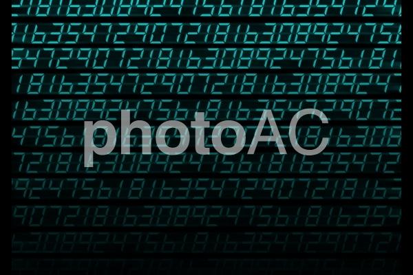 テクスチャ【デジタルナンバー】の写真
