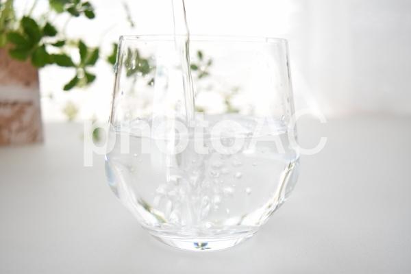 注がれる水の写真