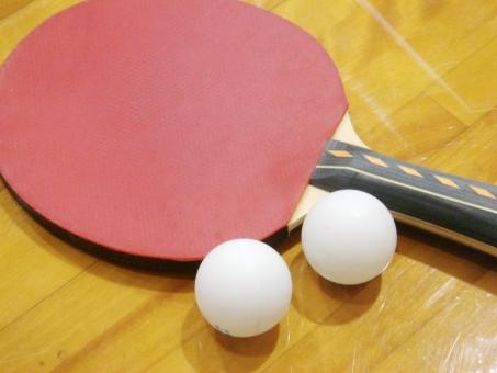 スポーツ用品 テーブルテニス 卓球 ピンポン 玉 ラケット スポーツ 運動 レジャー 白 赤 ウッド 室内 体育館 競技 ゲーム