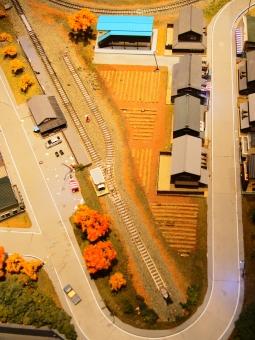 ミニチュアモデルの町風景の写真