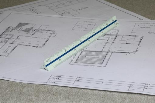 三角スケール 測定器 物差し ものさし 計測 縮尺 製図 図面 測定具 設計 設計図
