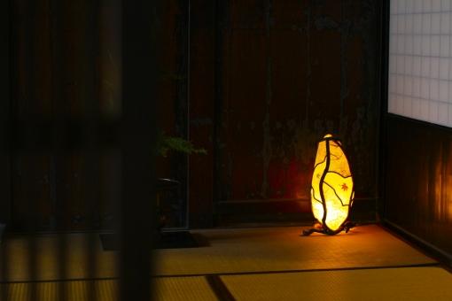 古民家 田舎 明かり 灯り オブジェ 芸術 アート 畳 和室 保存地区