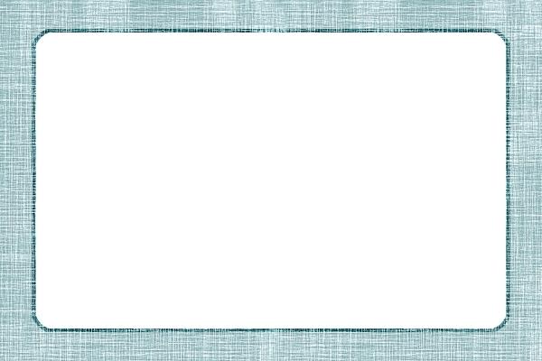 麻布のテクスチャのフレーム 青の写真