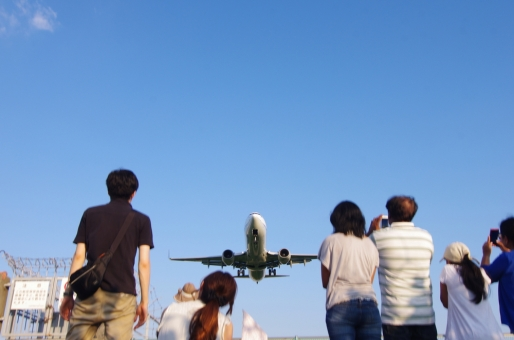 着陸の写真