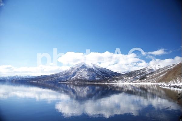 厳冬の支笏湖最の写真