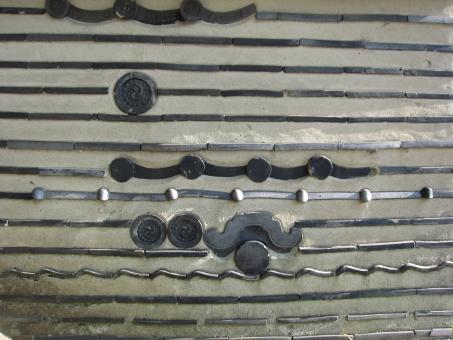 壁 壁文様 壁様式 埋め込み 埋蔵 古式 古風 風情 和 和文様 瓦