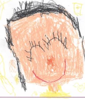 母の日 お母さん ママ 似顔絵 幼稚園 展覧会 Mother's Day mother 子供 子供の絵 子ども こども 子どもの絵 イラスト クレヨン