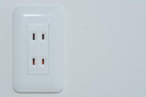 コンセント 電気 部屋 電化製品 家 電気代 エレクトリック 新築 白 プラグ 差し込む 住居 穴 住宅