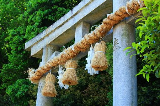 神社 仏閣 寺 仏 参拝 鳥居 しめ縄 門 入り口 お参り 仏教 日本 伝統 古来 景色 風景 樹木 自然 森 森林 林 植物 木 樹 石