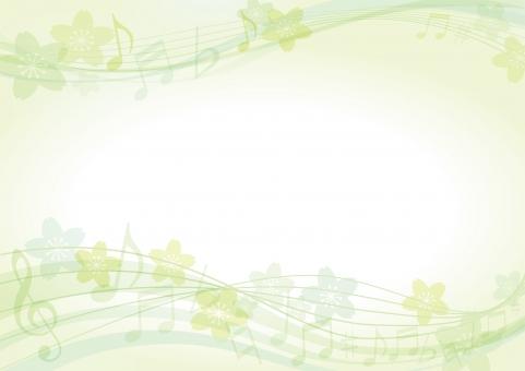 背景 テクスチャ テクスチャー さくら 背景素材 グリーン 緑 エコ 環境 ポスター グラフィック ポストカード 桜 デザイン 記号 素材 装飾 イラスト ブックカバー 表紙 デコレーション カバー 春 ノート アルバム 音楽 夏 5月 音符 ミュージック
