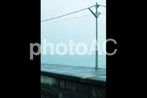 海辺の駅の写真