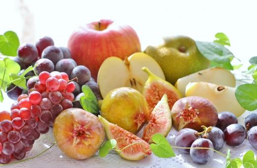 秋のフルーツの写真