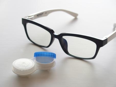 メガネ コンタクト コンタクトレンズ コンタクトレンズケース ケース 眼鏡 めがね 黒縁メガネ