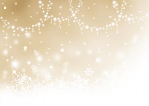 クリスマス_ベージュ_淡い背景の写真