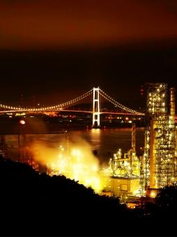 美しい室蘭の工場夜景の写真