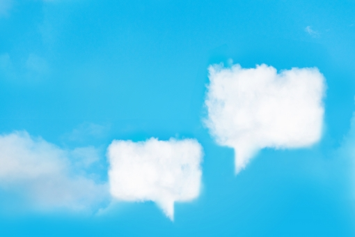 雲のふきだしの写真