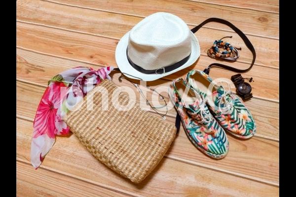 レディースファッション 夏 小物の写真