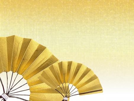 金色 正月 お正月 迎春 金 ゴールド 小物 背景 布 衣 絹 冬 和紙 正月飾り 新年 正月背景 賀正 年賀状 年賀ハガキ 年賀はがき 日本 和柄 扇子 飾り 伝統 和風 HAPPY NEW  YEAR