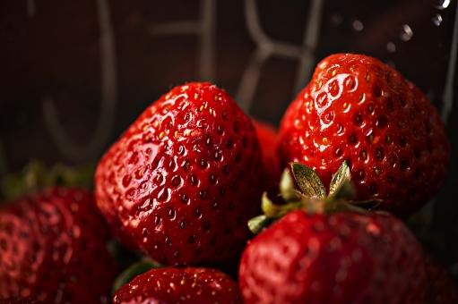 果物 フルーツ くだもの いちご イチゴ 苺 食べ物 食材 アップ 接写 赤 みずみずしい フレッシュ 植物 果実 新鮮 単品 食品 食物 デザート 複数 健康 美容 ダイエット 農業