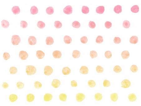 水彩 水彩画 絵の具 水彩絵の具 筆 ラフ フリーハンド 柄 模様 テクスチャー テクスチャ 背景 バック バックグラウンド ハンドメイド 手書き 手描き 手作り 手作り感 ナチュラル ガーリー かわいい 子ども さわやか 爽やか すっきり シンプル トレンド マリン 夏 明るい イメージ ドット ドット柄 水玉 水玉模様 グラデーション 春 春のイメージ 暖色 暖かい