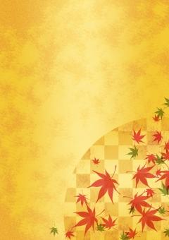 背景 背景素材 バックグラウンド テクスチャ テクスチャー 紅葉 秋 金箔 和柄 市松模様 伝統的な 葉 オータム 行楽 日本的な 日本の 赤い 紅 ゴールド 金 金屏風 京都 落葉樹 名所 見物 ツアー 紅葉前線 趣のある 落ち着きのある 和む