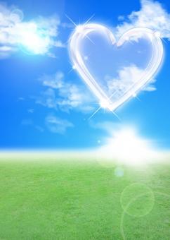 青空 希望 幸福 フラッシュ 未来 将来 幸せ 愛 ハッピー happy love 晴天 喜び 夏 チラシ パンフレット カタログ ポスター 表紙 背景 バック バックグラウンド 心 きらきら クリスタル 透明 キラキラ 自然 エコ エコロジー