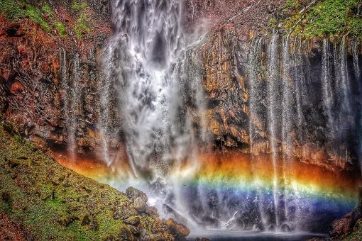 滝 華厳の滝 瀑布 虹日光 rainbow 水