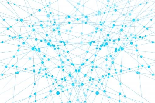白のネットワークテクノロジー幾何学模様の抽象背景素材の写真