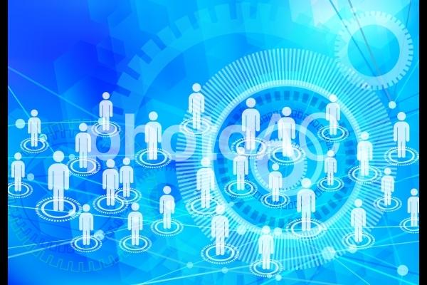snsイメージライトブルーのネットワークテクノロジーの写真