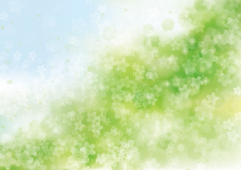 春 桜 花 夢 4月 テクスチャ 背景 素材 きらめき きらきら キラキラ 輝き 入学 卒業 お祝い さくら 立春 バレンタイン 雛まつり ホワイトデー 入園 卒園 合格 母の日 プロポーズ バック 青 空 青空 緑