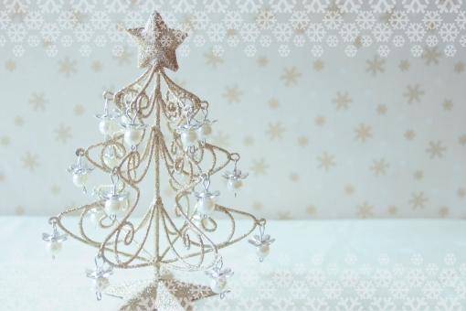 クリスマス ツリー クリスマスツリー ゴールド 星 パール 真珠 雪 結晶 六角形 ヘキサゴン キラキラ 輝き 女子 メルヘン おとぎ話 ロマンティック