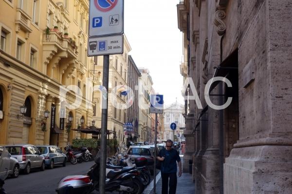イタリア ローマ 街並みの写真