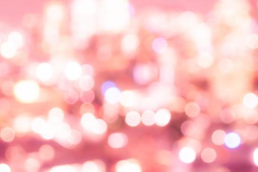 ピンク背景 玉ボケの写真