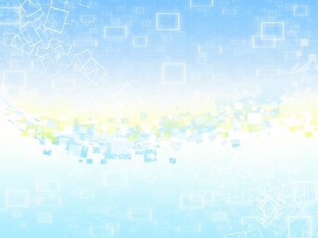 square 光 スクエア 四角 キラキラ ドット 水色 青 黄色 テクスチャ 背景 素材 印刷 きらきら バックグラウンド WEB デザイン 透明感