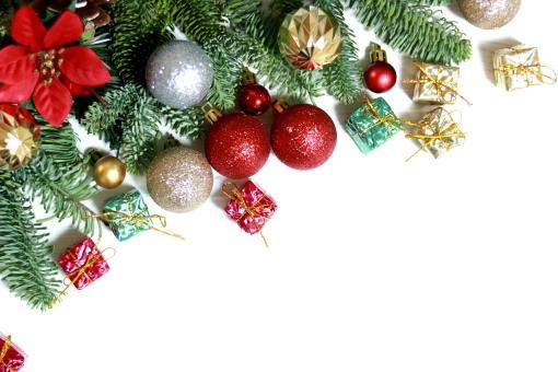 クリスマス フレーム 背景素材 壁紙素材の写真