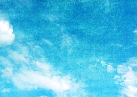 空 大空 青空 和紙 テクスチャ テクスチャー バックグラウンド 背景 背景素材 晴れ 雲 広がり 伝統 伝統工芸 絵 ブラシ 紙 ペーパー 手触り 塗料 絵の具 絵画 青 自然 青い空 無限 気持ち良い 爽やかな 清々しい 晴れ晴れした