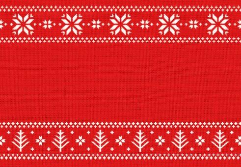 ノルディック ノルディック柄 北欧柄 模様 柄 北欧 かわいい クリスマス 冬 雪 雪の結晶 結晶 赤色 モミの木 もみの木 スノー ニット セーター 壁紙 テクスチャ 背景 イラスト メッセージカード クリスマスカード